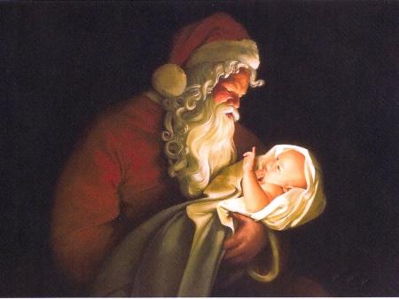 Santa and the Christ Child, sacred and profane.